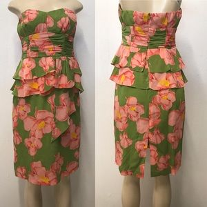 Nanette Lenore Strapless floral print dress
